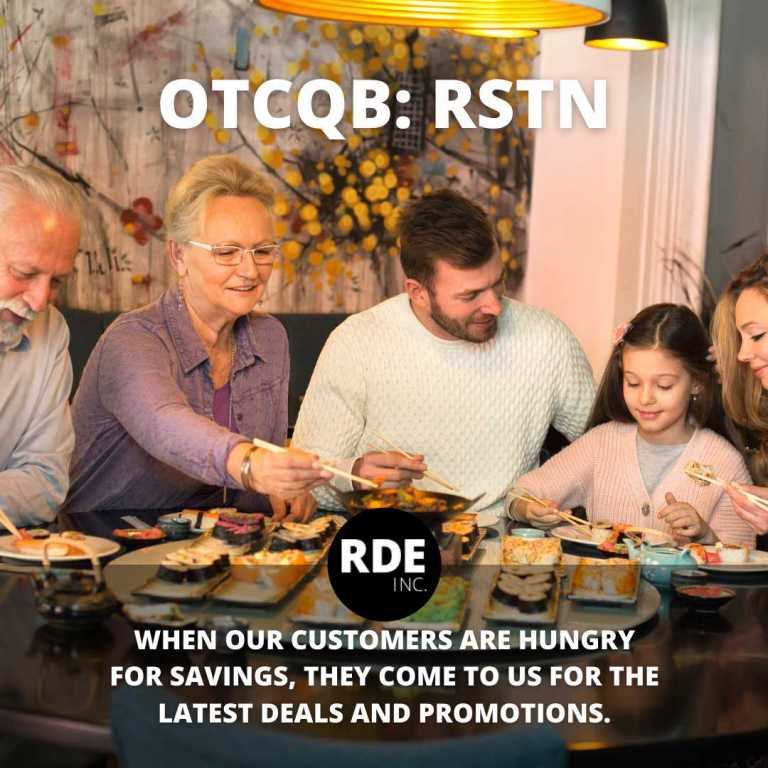 RDE Inc Hungry for savings, and image of a family eating - smallcapvoice