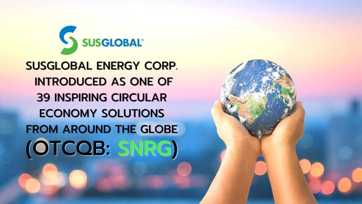 a pair of hands holding the world with SNRG logo on it - smallcapvoice