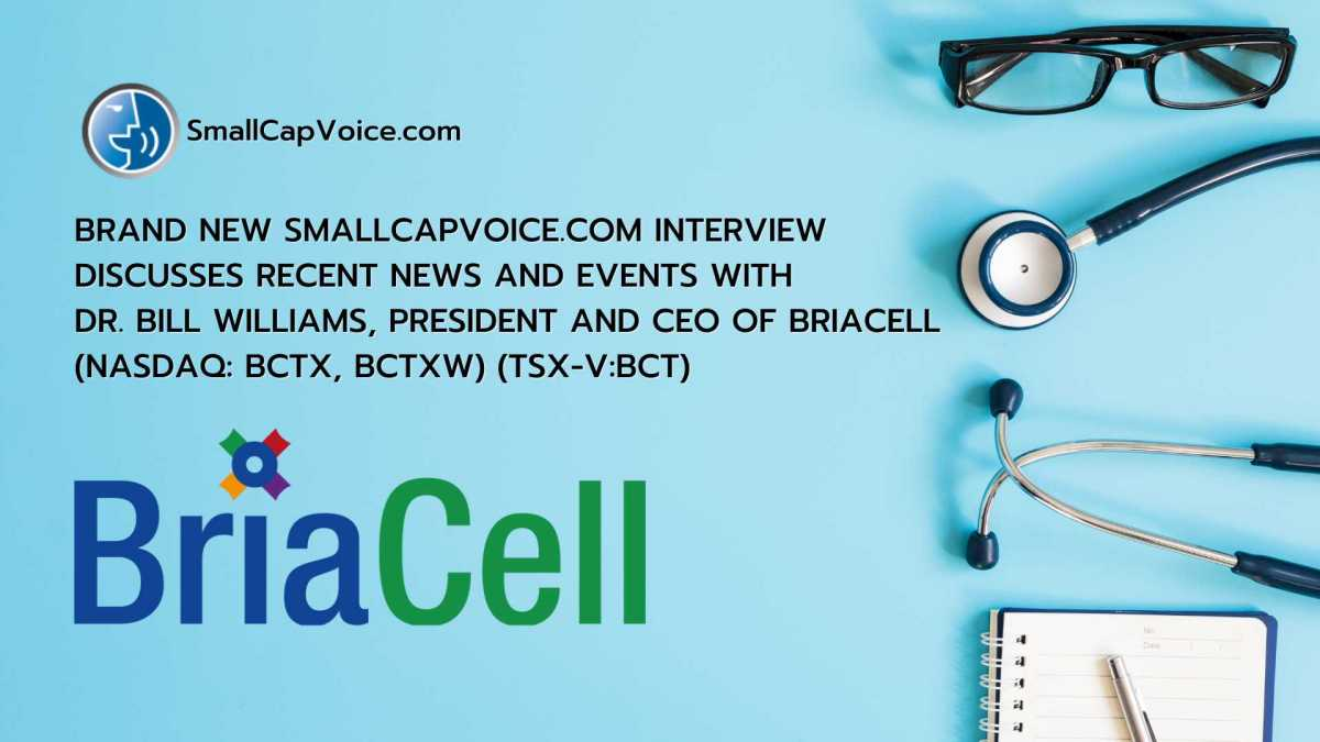 briacell audio interview with Smallcapvoice