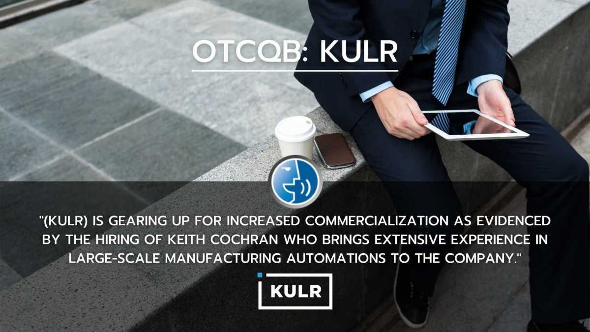 KULR, Man sitting with an iPad - smallcapvoice